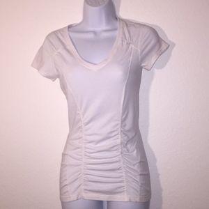 ZELLA V-Neckline White T-Shirt XS